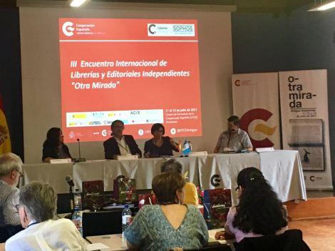 Miembros de GEICA: Salvadora Navas de anamá, Raúl Figueroa de F&G, Isolda Arita de Guaymuras y Óscar Castillo de Uruk